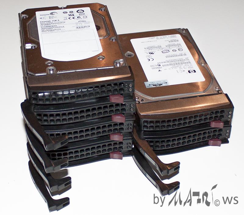SAS HDDs 300GB 15k